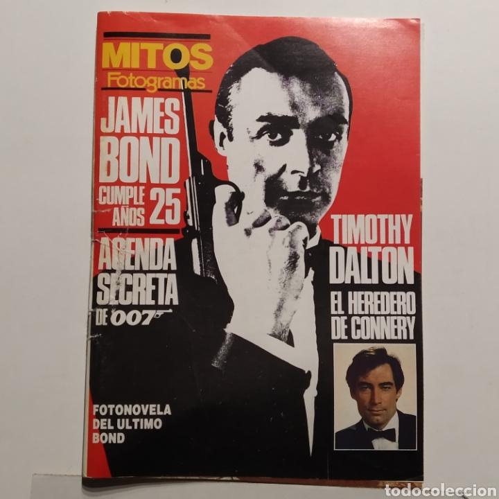 MITOS FOTOGRAMAS JAMES BOND CUMPLE 25 AÑOS, 007, TIMOTHY DALTON, SEAN CONNERY (Cine - Revistas - Fotogramas)