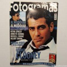 Cine: FOTOGRAMAS AÑO 53 NÚMERO 1878 ABRIL 2000 GEORGE CLLONEY, WINONA RYDER, ALMODÓVAR, KEVIN SPACEY. Lote 197442853