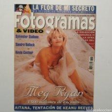 Cine: FOTOGRAMAS AÑO 48 NÚMERO 1823 SEPTIEMBRE 1995 MEG RYAN, SYLVESTER STALLONE, SANDRA BULLOCK. Lote 197443226
