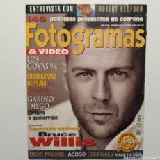 Cine: FOTOGRAMAS AÑO 48 NÚMERO 1816 FEBRERO 1995, BRUCE WILLYS, GABINO DIEGO, DEMI MOORE, ROBERT REDFORD. Lote 197443890