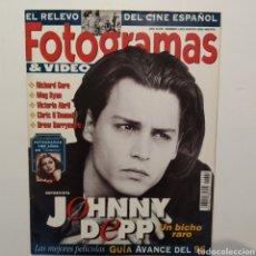 Cine: FOTOGRAMAS AÑO 48, NÚMERO 1822 AGOSTO 1995, JOHNNY DEPP, RICHARD GERE, MEG RYAN, VICTORIA ABRIL. Lote 197445585