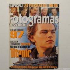 Cine: FOTOGRAMAS AÑO 51 NÚMERO 1851, ENERO 1998, TITANIC, LEONARDO DICAPRIO, SHARON STONE. Lote 197448126