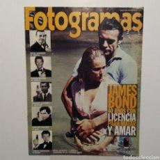 Cine: FOTOGRAMAS SUPLEMENTO ESPECIAL COLECCIONISTAS 1909 JAMES BOND 40 AÑOS CON LICENCIA PARA MATAR. Lote 197448907