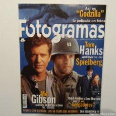 Cine: FOTOGRAMAS AÑO 55, NÚMERO 1859, SEPTIEMBRE 1998, TOM HANKS, SPIELBERG, MEL GIBSON, RALPH FIENNES. Lote 197449335