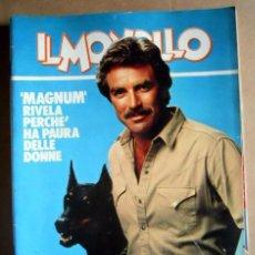 Cine: TOM SELLECK SERIE TV MAGNUM PI DOBERMAN PINSCHER REVISTA ITALIANA MAGAZINE. Lote 197497978