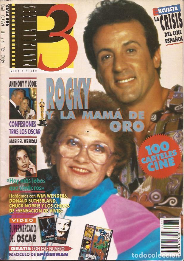 REVISTA DE CINE PANTALLA 3 Nº 111 MAYO 92 STALLONE (Cine - Revistas - Otros)