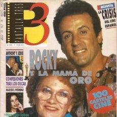 Cine: REVISTA DE CINE PANTALLA 3 Nº 111 MAYO 92 STALLONE . Lote 197509842