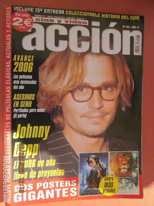 ACCION CINE Y VIDEO Nº 164 - JOHNNY DEPP (Cine - Revistas - Acción)