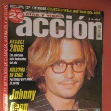 Cine: ACCION CINE Y VIDEO Nº 164 - JOHNNY DEPP . Lote 197685980