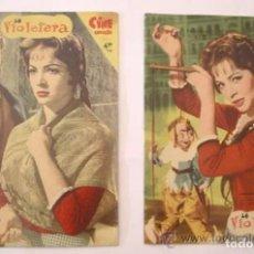 Cine: LA VIOLETERA, COMPLETA 8 FASCÍCULOS, SARA MONTIEL AÑO 58. COLECCION MANDOLINA, EDICIONES FHER. Lote 197817098