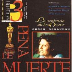 Cine: REVISTA DE CINE PANTALLA 3 Nº 157 ABRIL 96 SUSAN SARANDON TIM ROBBINS. Lote 197886932