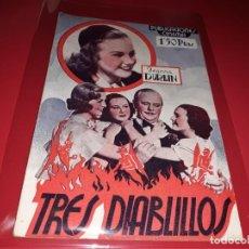 Cine: TRES DIABLILLOS CON DIANA DURBIN. COLECCIÓN CINEMA . ARGUMENTO NOVELADO CON FOTOGRAFIAS AÑO1938. Lote 197898292