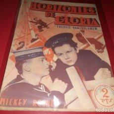 Cine: HORIZONTES DE GLORIA CON MICKEY ROONEY. ARGUMENTO DE PELICULA CON FOTOGRAFIAS.1940. Lote 197898756