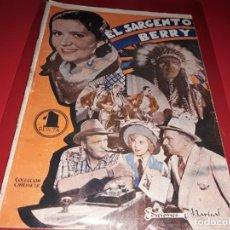 Cine: EL SARGENTO BERRY. ARGUMENTO DE PELICULA CON FOTOGRAFIAS.1938. Lote 197899875