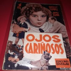 Cine: OJOS CARIÑOSOS CON SHIRLEY TEMPLE. ARGUMENTO DE PELICULA CON FOTOGRAFIAS.1938. Lote 197900281