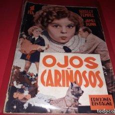 Cine: OJOS CARIÑOSOS CON SHIRLEY TEMPLE. ARGUMENTO NOVELADO DE PELICULA CON FOTOGRAFIAS.1938. Lote 197900281