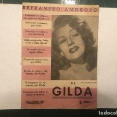 Cine: REVISTA REFRANERO AMOROSO Nº 2 POR GILDA EDITORIAL ALAS, EL ARTE DEL MAQUILLAJE. Lote 198148058