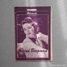 Cine: FOTOGRAMAS ALBUM DE INGRID BERGMAN. Lote 198203298