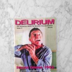 Cine: DELIRIUM - THE ESSENTIAL GUIDE TO BIZARRE ITALIAN CINEMA - ISSUE 5 - ITALIAN CINEMA 1982. Lote 198338181