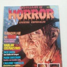 Cine: MAQUILLAJES DE HORROR Y EFECTOS ESPECIALES - REVISTA ED. ZINCO 1991 // TERROR GORE GIALLO FX SLASHER. Lote 198413680