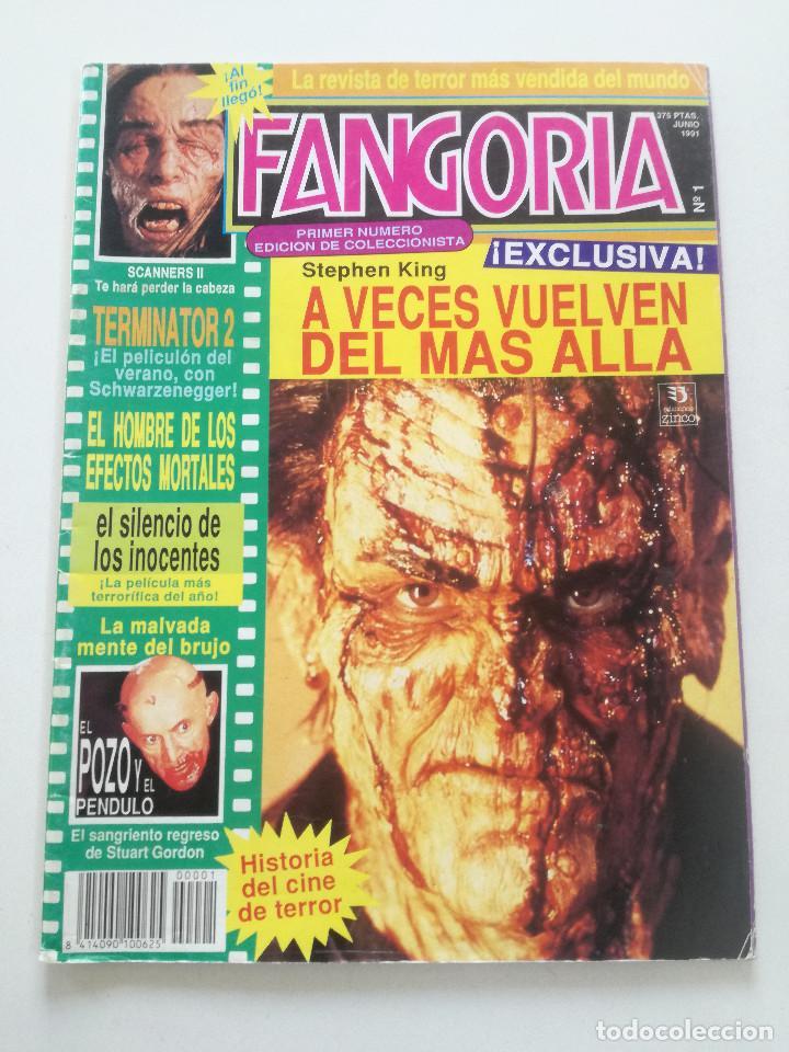 FANGORIA Nº 1 - ED. ZINCO 1991 // CINE GORE FANTASTICO TERROR SERIE B SLASHER SCANNERS TERMINATOR 2 (Cine - Revistas - Fangoria)
