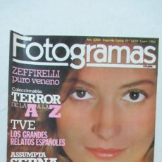 Cine: REVISTA FOTOGRAMAS NUMERO 1670 ASSUNTA SERNA, ADIOS NATALIE WOOD .FRANCO ZEFFIRELLI.. Lote 199177938
