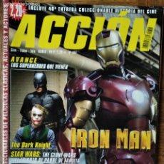 Cine: ACCION N 804 D 2008- IRON-MAN- THE DARK KNIGHT- INDIANA JONES- HAMMER FILMS- STAR WARS- DOMINIC PURC. Lote 199273562