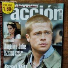 Cine: ACCION Nº 151 D 2004- OCEANS 12 BRAD PITT ANGELINA JOLIE- LOS INCREIBLES- STAR WARS- ALIEN PREDATOR. Lote 199280140