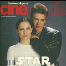 Cinema: REVISTA CINEMANIA STAR WAR EL ATAQUE DE LOS CLONES. Lote 199287980