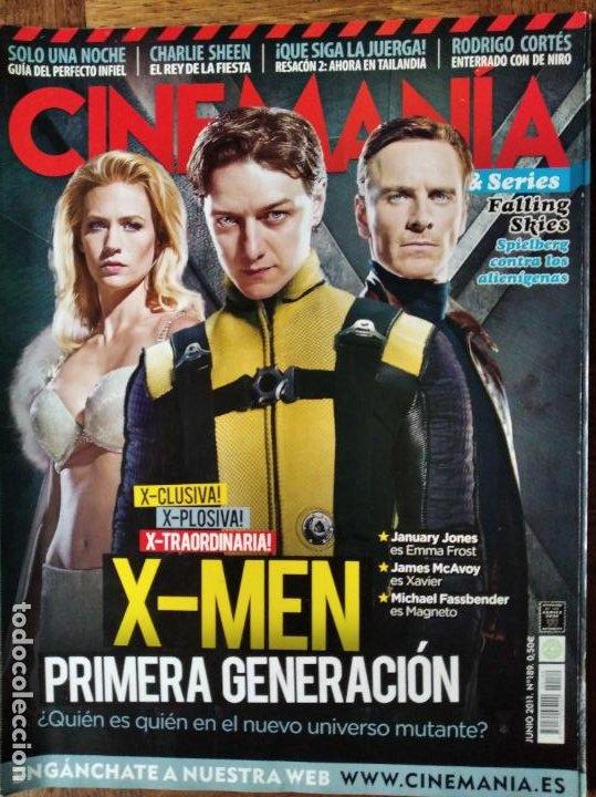 CINEMANIA Nº 189 DE 2011- X-MEN, RED LIGHTS, RESACON, CHARLOTTE GAINSBOURG, SAOIRSE RONAN, FALLING S (Cine - Revistas - Cinemanía)