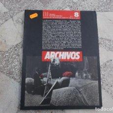 Cinema: ARCHIVOS DE LA FILMOTECA GENERALITAD VALENCIANA Nº 8, 1991, LO SIMIESTRO, LA FOTOGRAFIA, EL CINE. Lote 200115250