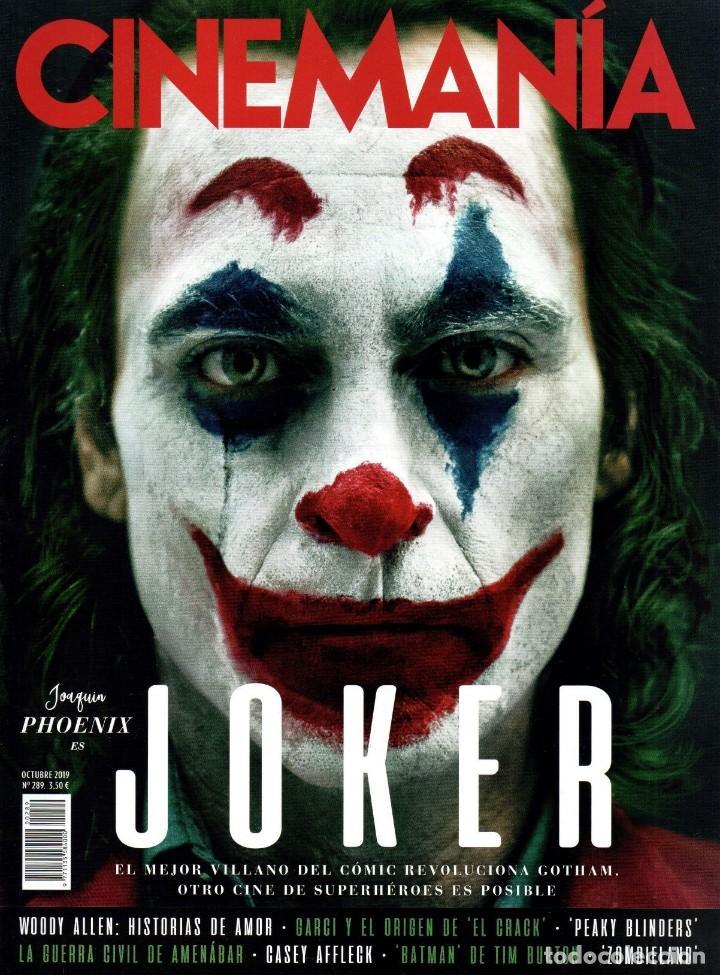 CINEMANIA N. 289 OCTUBRE 2019 - EN PORTADA: JOKER (NUEVA) (Cine - Revistas - Cinemanía)