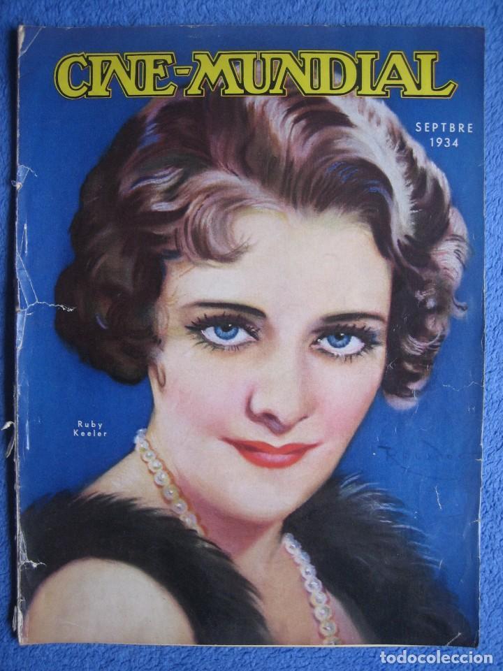 CINE MUNDIAL. SEPTIEMBRE 1934. RUBY KEELER. DOLORES DEL RÍO. (Cine - Revistas - Cine Mundial)