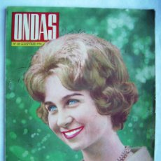 Cine: GRACE KELLY. SOFIA LOREN. LOS TARANTOS. REVISTA ONDAS 1962.. Lote 201313211