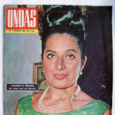 Cine: JUANITA REINA . REVISTA ONDAS 1964.. Lote 201313632