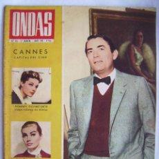 Cine: GREGORY PECK . ROMY SCHNEIDER. REVISTA ONDAS 1963.. Lote 201313943