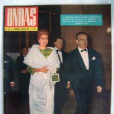 Cinema: GRACE KELLY. REVISTA ONDAS 1962.. Lote 201315415