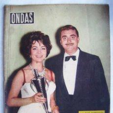 Cine: SARA MONTIEL. ELIZABETH TAYLOR. REVISTA ONDAS 1958.. Lote 201316936