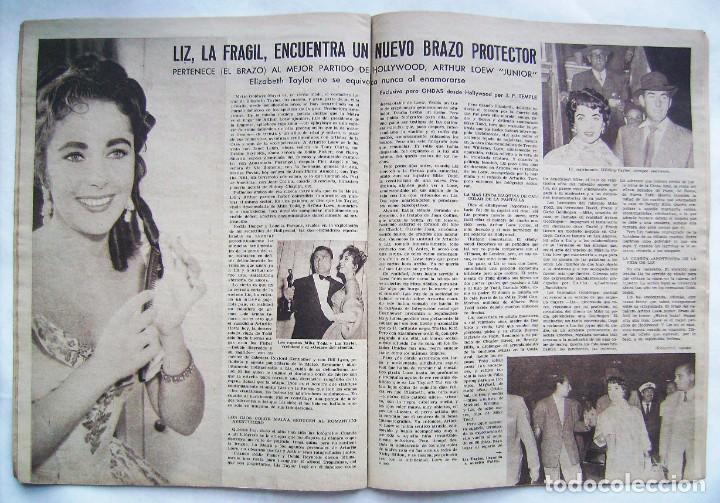 Cine: SARA MONTIEL. ELIZABETH TAYLOR. REVISTA ONDAS 1958. - Foto 2 - 201316936