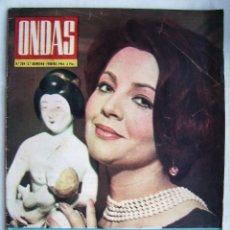 Cine: SARA MONTIEL. FRANCOISE HARDY. REVISTA ONDAS 1964.. Lote 201321421