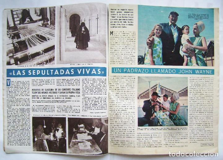 Cine: CARMEN SEVILLA. MARUJITA DÍAZ. ANTONIO GADES. JOHN WAYNE. REVISTA ONDAS 1964. - Foto 2 - 201338217