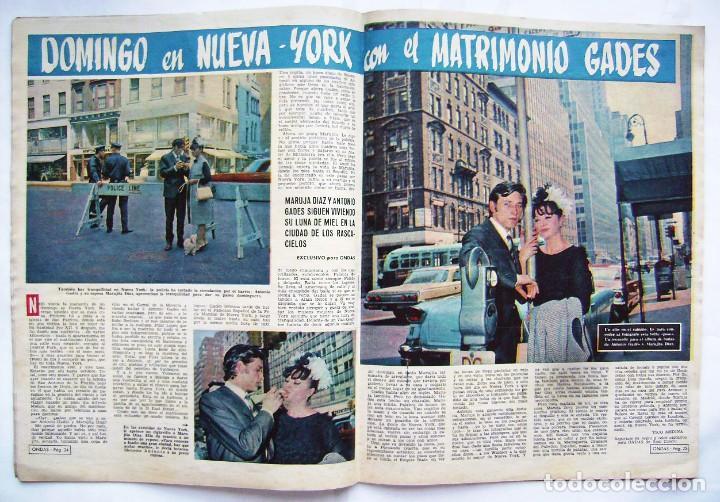 Cine: CARMEN SEVILLA. MARUJITA DÍAZ. ANTONIO GADES. JOHN WAYNE. REVISTA ONDAS 1964. - Foto 3 - 201338217