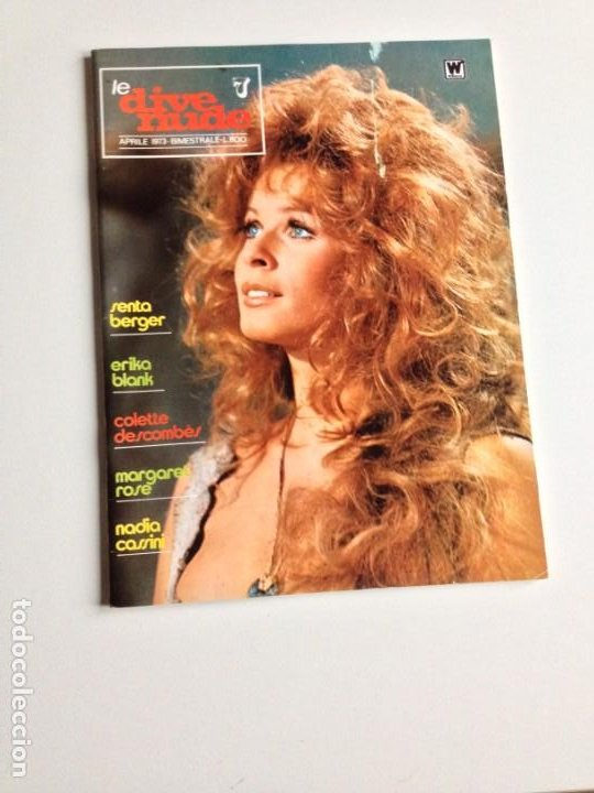 LE DIVE NUDE N.7 SENTA BERGER ERICA BLANK MARGARET ROSE EDIZIONI WILLIAMS 1973 (Cine - Revistas - Fotogramas)