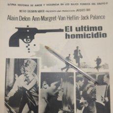 Cine: EL ULTIMO HOMICIDIO ALAIN DELON ANN MARGRET MGM.. Lote 202264626