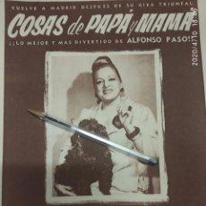Cine: COSAS DE PAPA Y MAMA ALFONSO PASO ISABEL GARCES. PUBLICIDAD. Lote 202271736