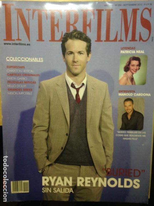 INTERFILMS NUMERO 254 - SEPTIEMBRE 2010 - RYAN REYNOLDS (Cine - Revistas - Interfilms)