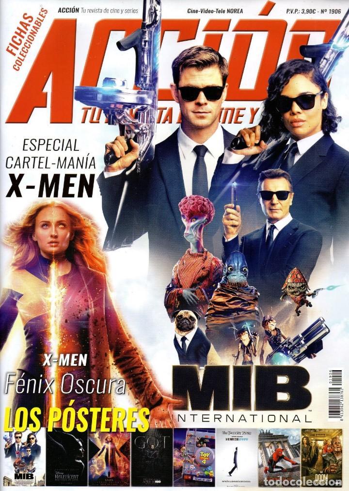 ACCION N. 1906 JUNIO 2019 - EN PORTADA: MIB INTERNATIONAL (NUEVA) (Cine - Revistas - Acción)