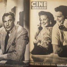 Cine: LOTE DE 17 REVISTAS CINE MUNDO 1954 CON PUBLICIDAD Y ARTÍCULOS DE CINE DE LA ÉPOCA. Lote 197457205