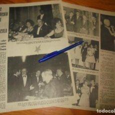 Cine: RECORTE PRENSA :PREMIOS SINDICATO ESPECTACULO : LOLA FLORES, CARMEN SEVILLA. RADIOCINEMA , FBRO 1962. Lote 202686331