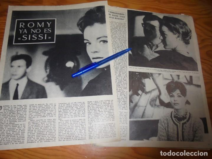 RECORTE PRENSA : ROMY SCHNEIDER, YA NO ES SISSI. RADIOCINEMA , FBRO 1962 (Cine - Revistas - Radiocinema)